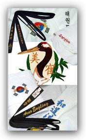 Bestickungs-Beispiele: Diese Textilien haben wir schon veredelt. Wann d�rfen wir Ihr Textil veredeln?