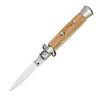 Switchblade stiletto handle olive wood messer+dolche taschenmesser klappmesser einhandtaschenmesser einhandmesser springmesser springermesser einsatzmesser tactical knives stillet stllett stiletto stilletto