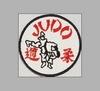Stickabzeichen Judo weiß-rot accessoires sticker aufnäher stickabzeichen judo