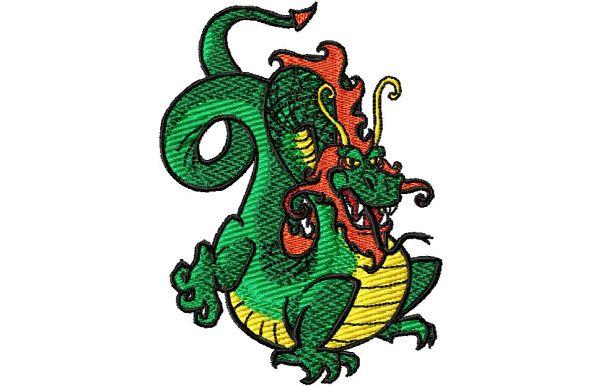 Stickmotiv Drachen / Dragon - EMB-LH463 bestickung bestickungsservice textilbestickung stickservice individuelle motivbestickung kampfsport stickdesign stickmotiv divers asiatischer chinesischer drache drachen japanischer