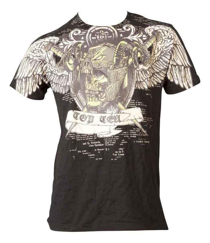 T-Shirt top ten MMA death, black and gold accessoires t-shirt freizeitartikel kleidung bekleidung mma mixed martial arts vale tudo ufc t-shirts tshirts tshirt freizeitbekleidung anzuege anzug