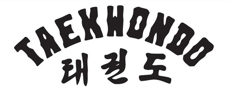 Teakwondo-Lettering german-korean accessories print withoutcolour transfers