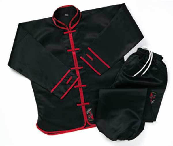 detail bild art nr kung fu anzug schwarz rot 351131. Black Bedroom Furniture Sets. Home Design Ideas