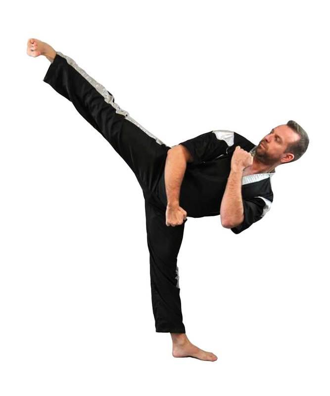 Taekwondo,v Kickboxing Satinhose schwarz 100-200cm Phoenix Kickboxen Karate