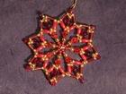7 cm Perlenstern, Premium in Rot und Gold SAC204070517