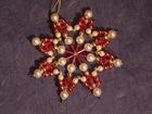 7 cm Perlenstern, Standard in Weiß, Rot und Gold SAC205071517