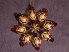 7 cm Perlenstern, Premium in Rot, Weiß und Gold SAC207071817