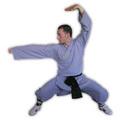 Sportimex Leichter Shaolin Anzug grau-blau