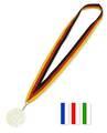 Medaillenband, Band für Medaille  schwarz-rot-gold