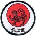 Motivbestickung BUSHIDO rund (7,5 cm)