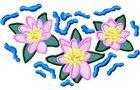 Budoten Stickmotiv Lilien / Cartoon Lilies - EMB-FL587
