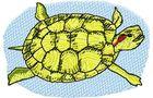 Budoten Stickmotiv Teichschildkröte / Pond Turtle - EMB-FL588