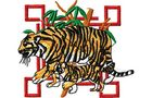 Budoten Stickmotiv Tiger Familie / Tiger Family - EMB-WM984