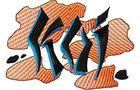 Budoten Stickmotiv Fisch Koi Logo - EMB-FM508