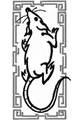 Budoten Stickmotiv Jahr der Ratte / Year of the Rat EMB-NW934, chinesische / japanische Tierkreiszeichen
