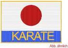 Stickabzeichen Japanische Flagge Karate