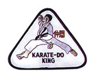 Budoland Stickabzeichen Karate-Do-King