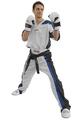 Kickboxhose Mesh 160 weiß-schwarz