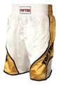 Boxing Shorts TopTen Shiny, Weiß-Gold M