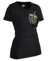 Ju-Sports Lady Taekwondo-Shirt Trace schwarz