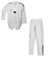 Taekwondoanzug Adi Club 3 Stripes weißes Revers