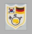 KWON Stickabzeichen Deutsch-Koreanisches Taekwondo-Freundschaftszeichen