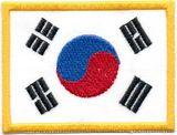 DanRho  Stickabzeichen Korea-Flagge