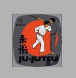 DanRho  PVC-Aufkleber Ju-Jutsu-Kampf