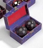 DanRho  Chinesische Gesundheitskugeln Stein, schwarz