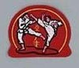 DanRho  Stickabzeichen Karate rot