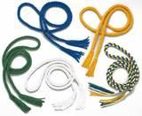 blau,gelb,grün,weiß  Capoeira-Gürtel