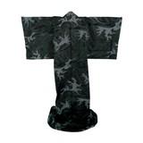 FujiMae  Japanischer Kimono Abendwelle schwarz
