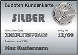 Budoten  Kundenkarte Silber 10% Rabatt