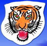 Stickabzeichen  Tiger