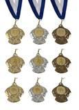 Medaille 030 (Band in blau weiß)