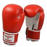 PHOENIX  Boxhandschuhe Kunstleder rot-weiß