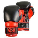 35.03  PX Leder Boxhandschuh COMBAT, schwarz-rot