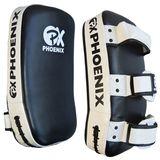 PHOENIX  PX Thai pad, Echtleder, paarweise, schwarz-weiß