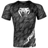 VENUM  Venum Tecmo Rashguard Short Sleeves- Dark Grey