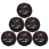 PHOENIX  Wall Ball Cross, Medizinball, PVC schwarz
