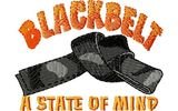 Budoten  Stickmotiv Schwarzer Gürtel / Blackbelt DAC-SP3793