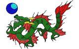 Budoten  Stickmotiv Drache / Dragon DAC-MI1359