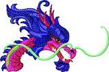 Budoten  Stickmotiv Drachenkopf / Dragon Head DAC-FC0051