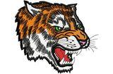 Budoten  Stickmotiv Grollender Tiger / Growling Tiger DAC-MA0407