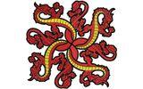 Budoten  Stickmotiv Asiatische Drachen / Oriental Dragons DAC-WC0173