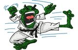 Stickmotiv Martial Arts Frosch / Karate Frog - EMB-CJ541