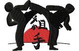 Budoten  Stickmotiv Karate Kampf / Kumite - EMB-SP3767