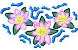 Stickmotiv Lilien / Cartoon Lilies - EMB-FL587