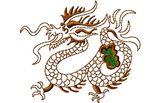 Budoten  Stickmotiv Chinesischer Drachen / Chinese Dragon (Oriental Design) - EMB-56106