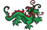 Budoten  Stickmotiv Drachen / Dragon - EMB-LH462